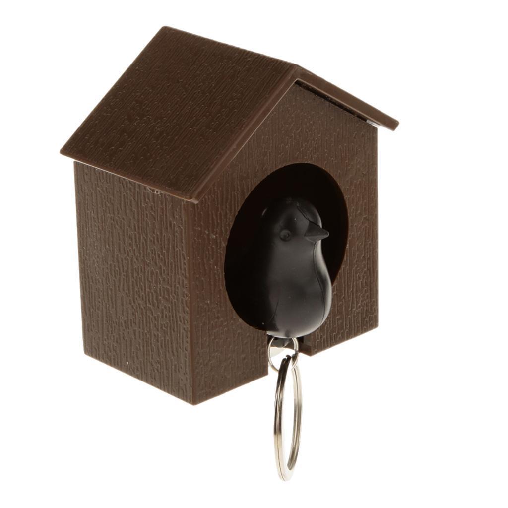 Novelty-Single-Duo-Sparrow-Bird-Nest-KeyChain-Key-Ring-Holder-Hook-Whistle-Ring thumbnail 10