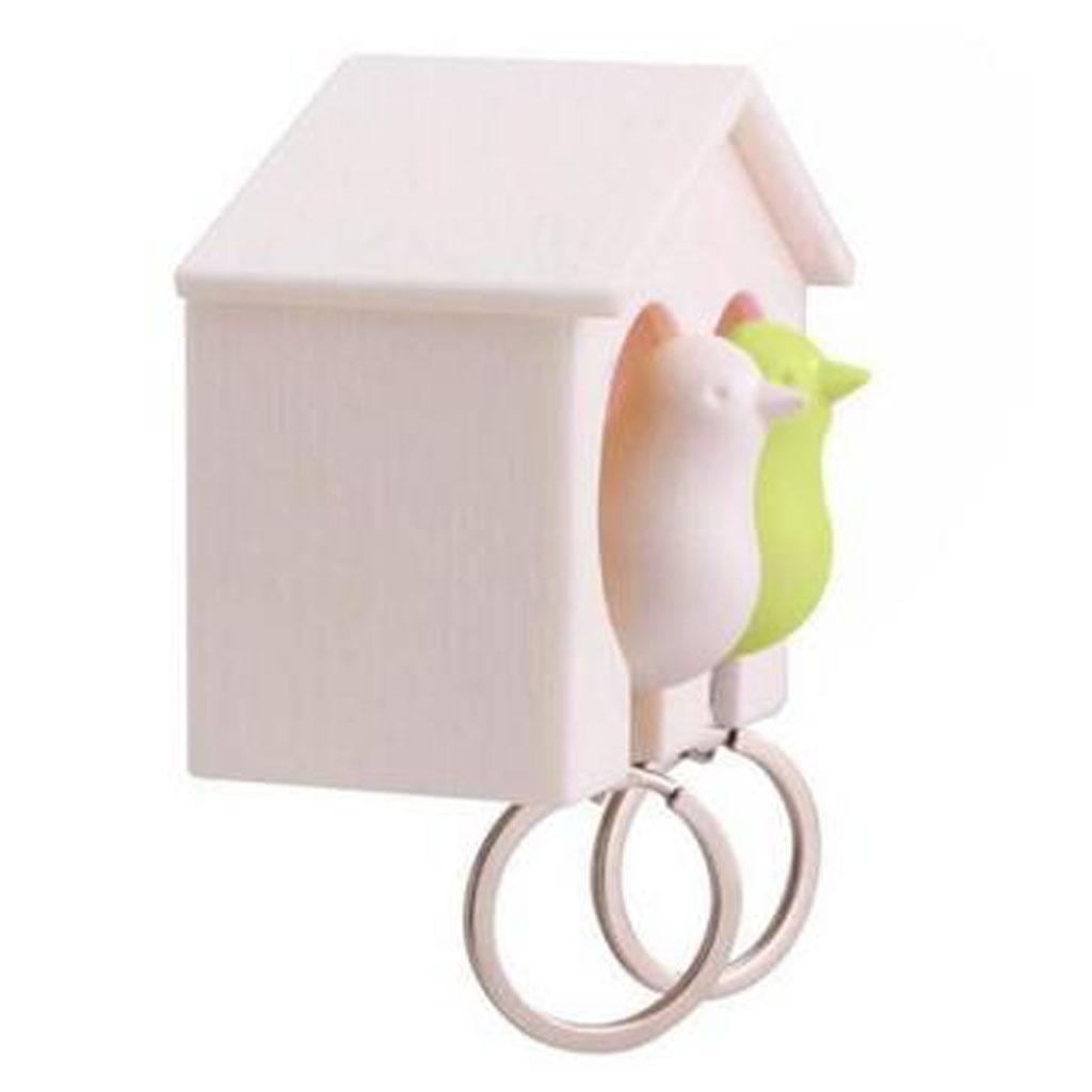 Novelty-Single-Duo-Sparrow-Bird-Nest-KeyChain-Key-Ring-Holder-Hook-Whistle-Ring thumbnail 21