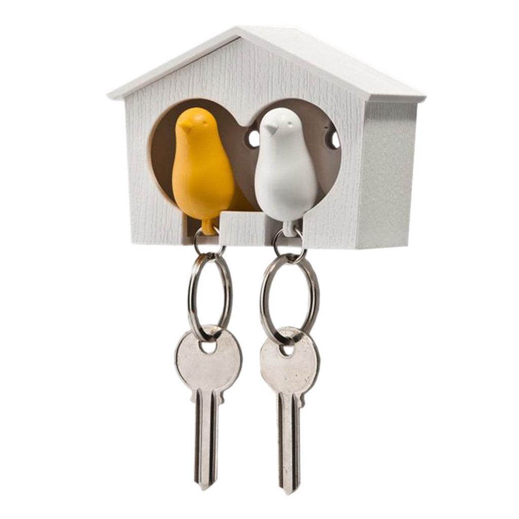 Novelty-Single-Duo-Sparrow-Bird-Nest-KeyChain-Key-Ring-Holder-Hook-Whistle-Ring thumbnail 17