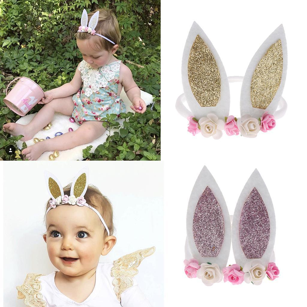 d006f4ff3 Details about Handmade Flower Gold Headband Baby Girl Headbands Newborn  Girls 2pcs