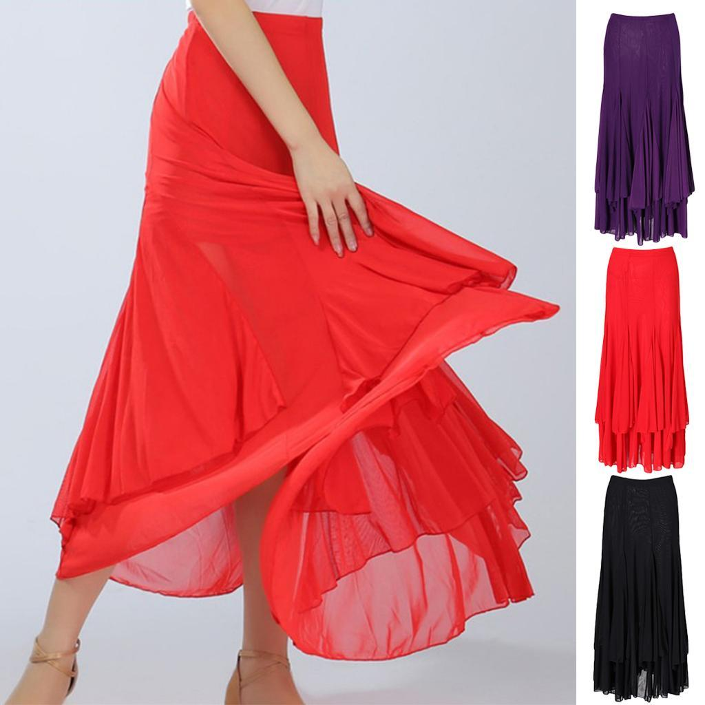 77b033ea72ed Details about Lady Woman Dance Dress Latin salsa Cha cha Modern Ballroom  tango Waltz skirt