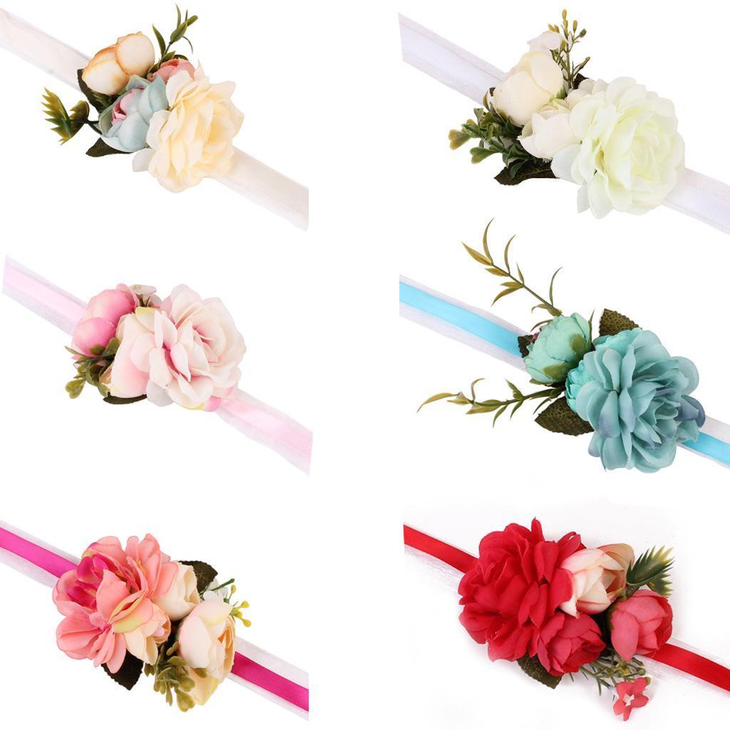 10x Mini Artificial Silk Rose Flower Heads Embellishment Applique