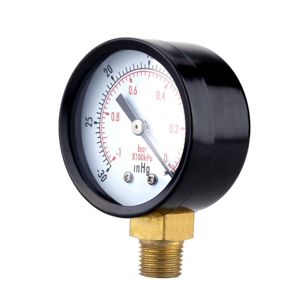 Details about Mini Air Compressor/Vacuum Dial Meter Pressure Manometer  Gauge Monitor- 6 Types