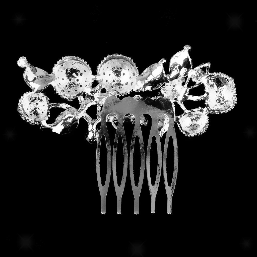 Peigne-a-Cheveux-Strass-Accessoire-de-Cheveux-de-Mariee-Bijoux-de-Mariage miniature 14
