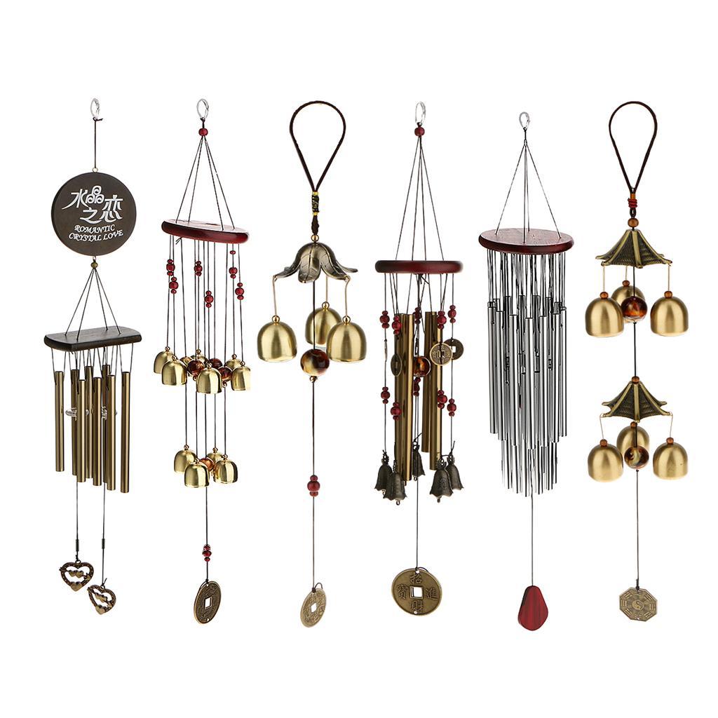 8 tubes metal bells wind chime yard charm hanging feng. Black Bedroom Furniture Sets. Home Design Ideas