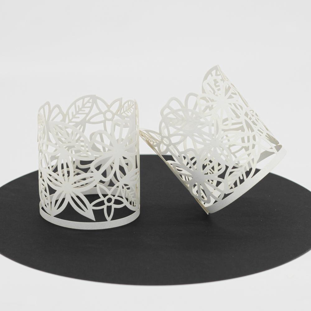 50pcs-Abat-jour-de-Bougie-a-LED-Emballage-en-Papier-Glace miniature 19