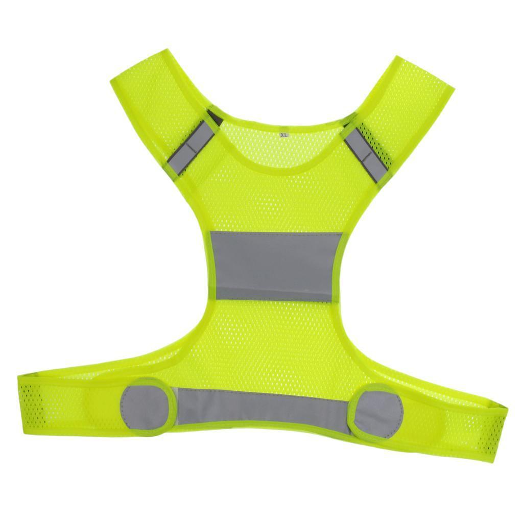 Veste-En-Tissu-Respirant-Gilet-Securite-Accessoire-De-Signalisation-Confortable miniature 3