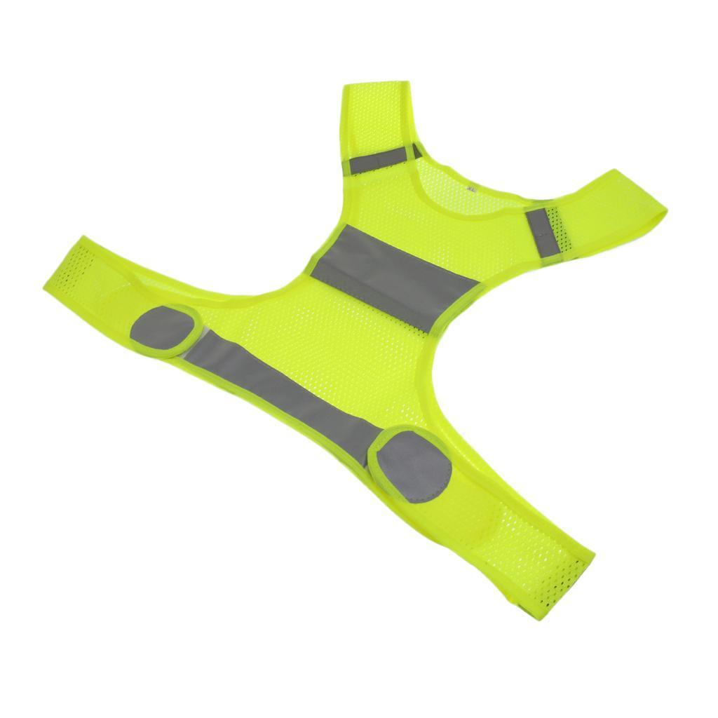 Veste-En-Tissu-Respirant-Gilet-Securite-Accessoire-De-Signalisation-Confortable miniature 5
