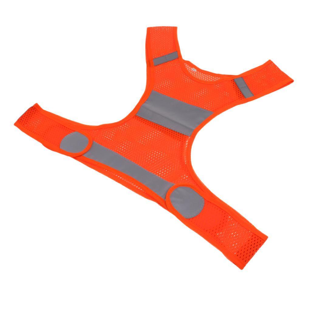 Veste-En-Tissu-Respirant-Gilet-Securite-Accessoire-De-Signalisation-Confortable miniature 10