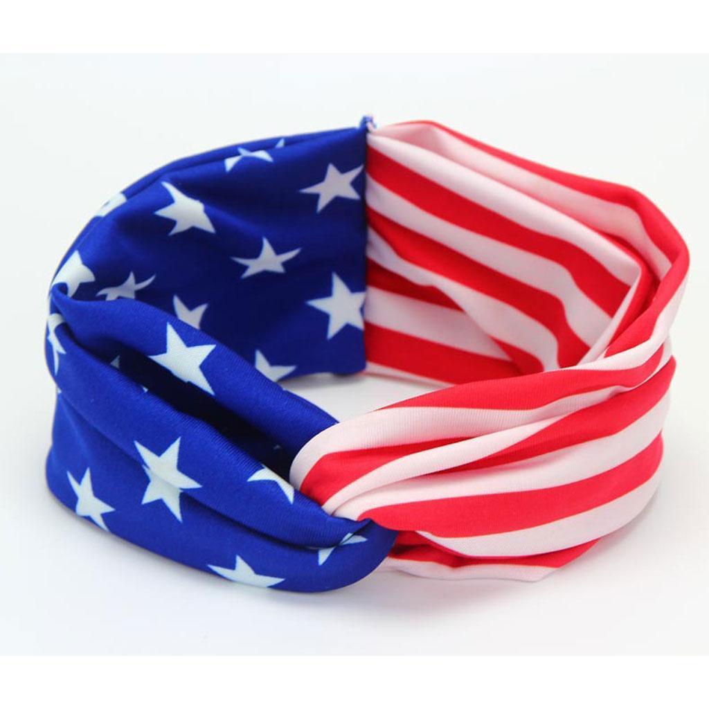 4-Juillet-Bebe-Filles-Turban-Lapin-Hairband-bowknot-Drapeau-americain-Bandeau miniature 10