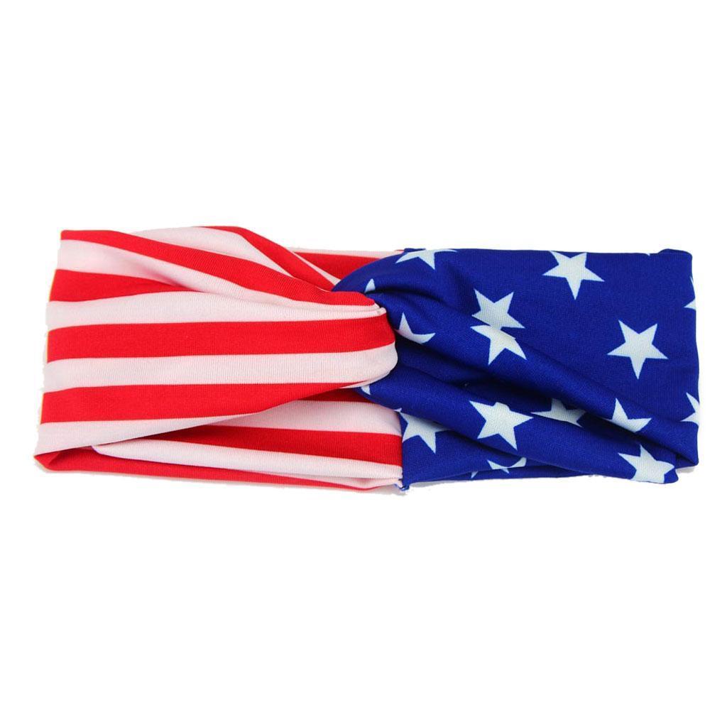 4-Juillet-Bebe-Filles-Turban-Lapin-Hairband-bowknot-Drapeau-americain-Bandeau miniature 12