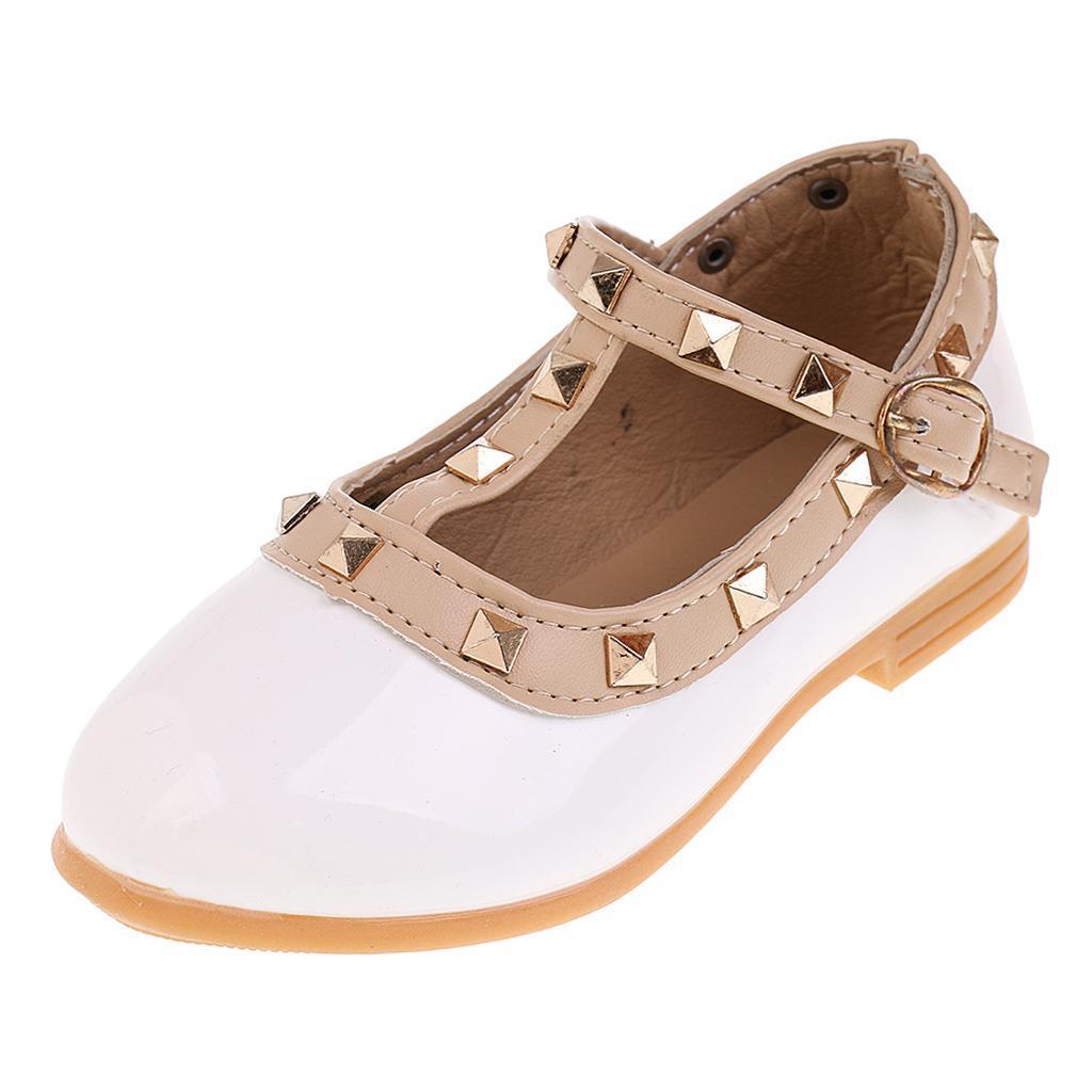 Chaussures-Pour-Enfant-Ballet-Sandales-Paire-Blanc-Accessoire-De-Danse-Fille miniature 4