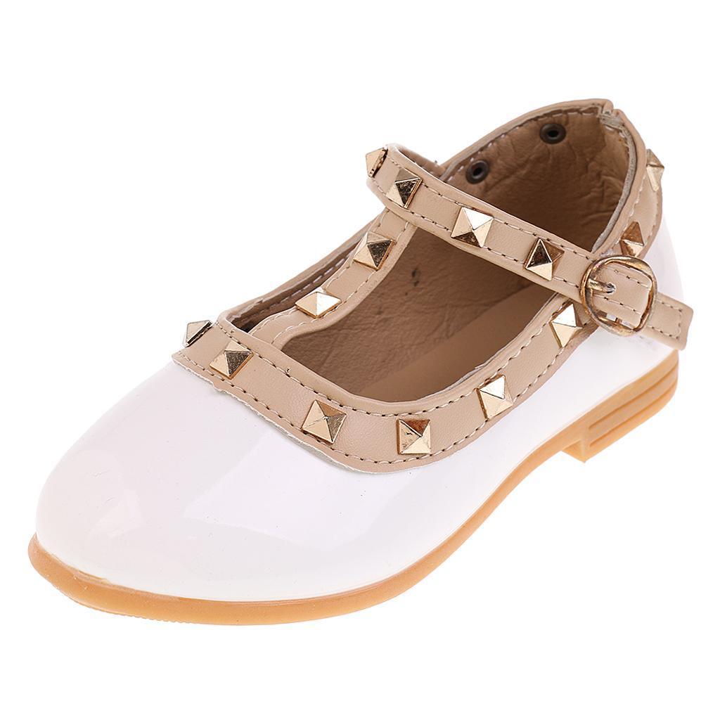 Chaussures-Pour-Enfant-Ballet-Sandales-Paire-Blanc-Accessoire-De-Danse-Fille miniature 5