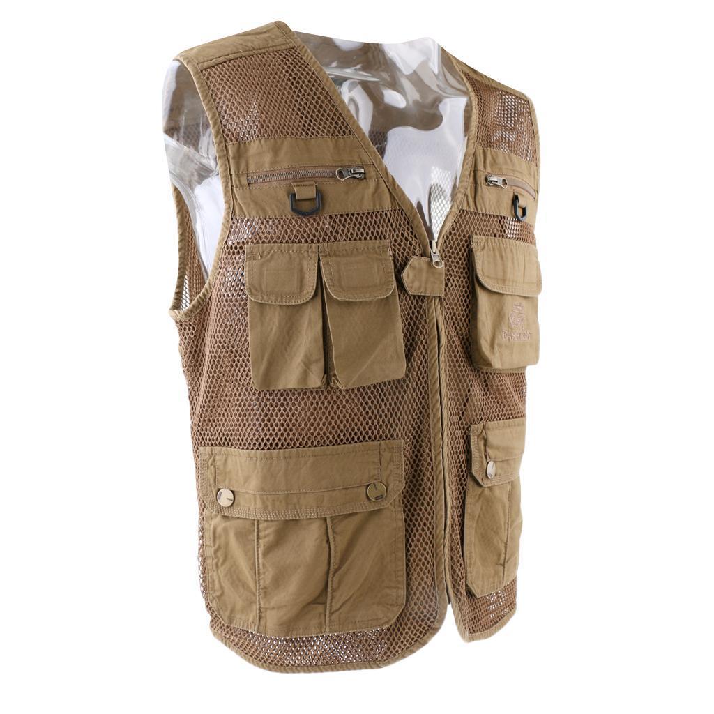 Kids mesh fly fishing vest multi pockets photography for Kids fishing vest