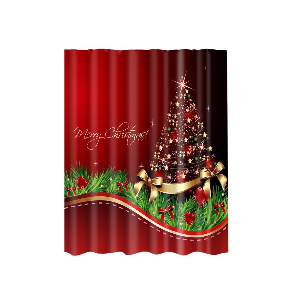 Rideaux-de-douche-Salle-de-bain-Decor-etanche-en-tissu-polyester-rideaux miniature 45