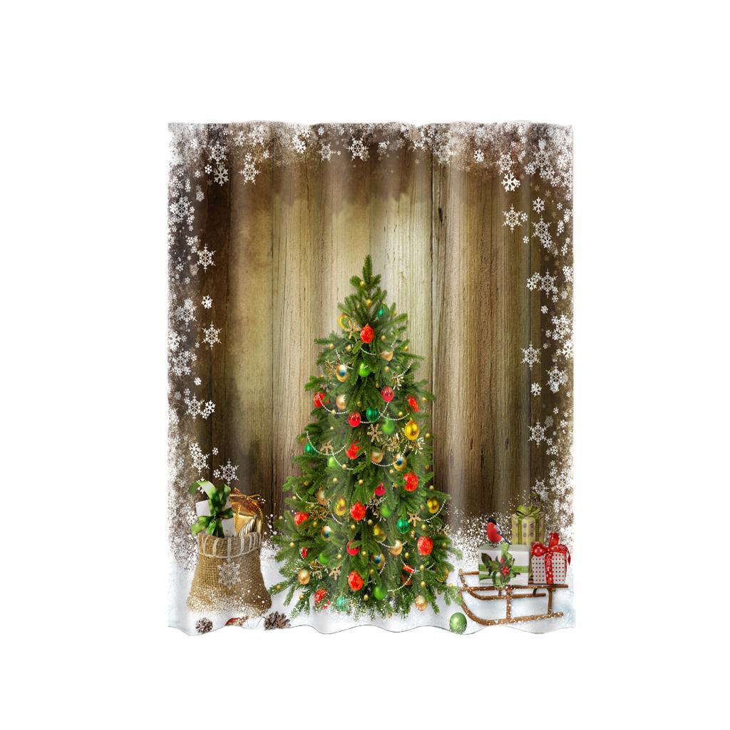 Rideaux-de-douche-Salle-de-bain-Decor-etanche-en-tissu-polyester-rideaux miniature 51