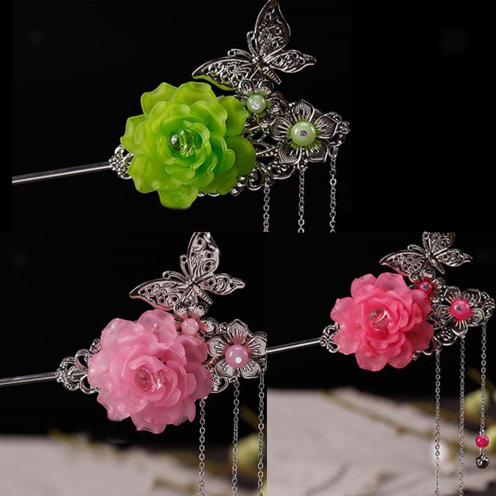 Tassel flower kanzashi hair sticks beautiful clufhignon hair pin tassel flower kanzashi hair sticks beautiful clufhignon hair pin charms ebay izmirmasajfo