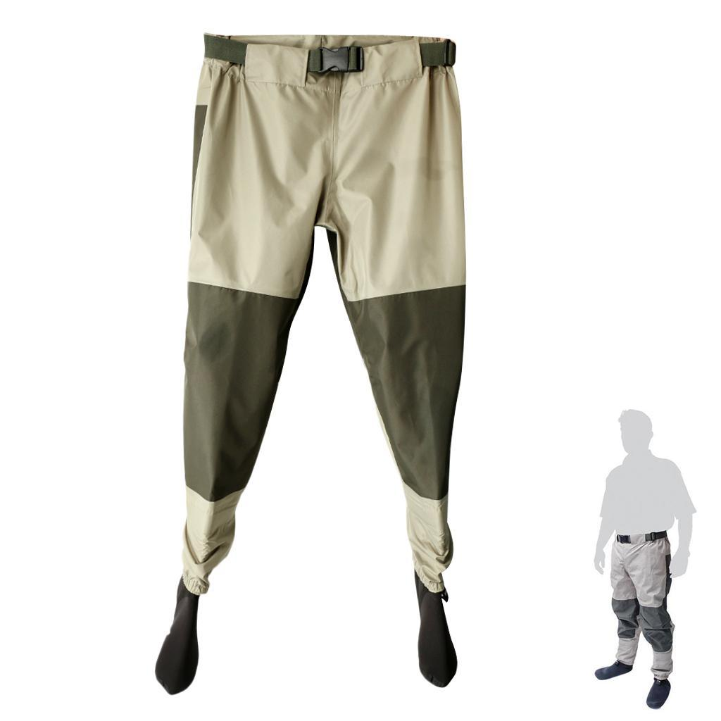 Breathable rafting fishing waders elastic waist pants with for Lightweight fishing pants