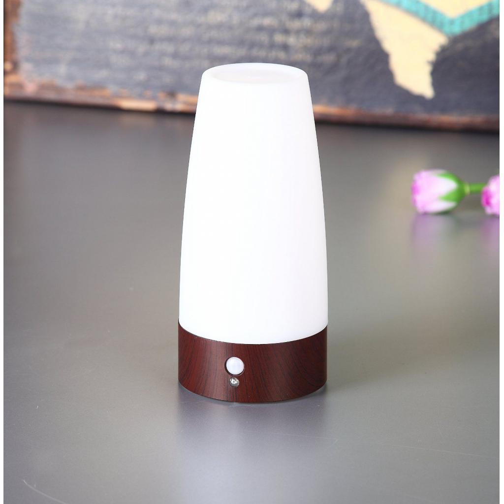 miniature 8 - Capteur De Mouvement PIR Lumière LED Lampe Nuit Base en Bois Blanc Chaud