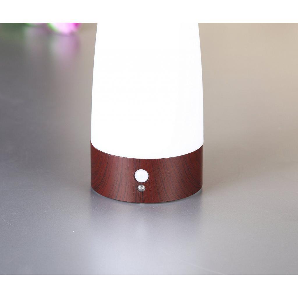 miniature 9 - Capteur De Mouvement PIR Lumière LED Lampe Nuit Base en Bois Blanc Chaud