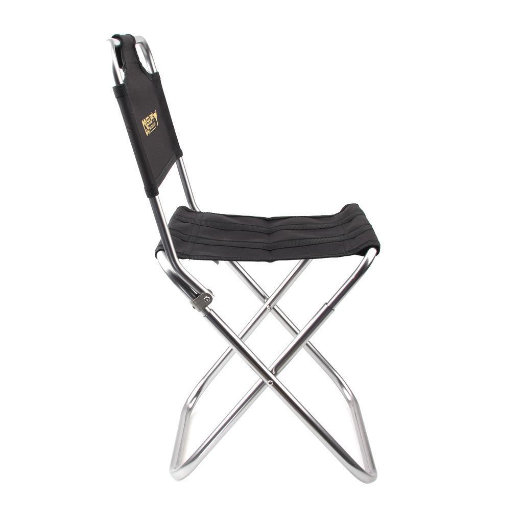 Fishing Camping Hiking Portable Black Folding Chair Small