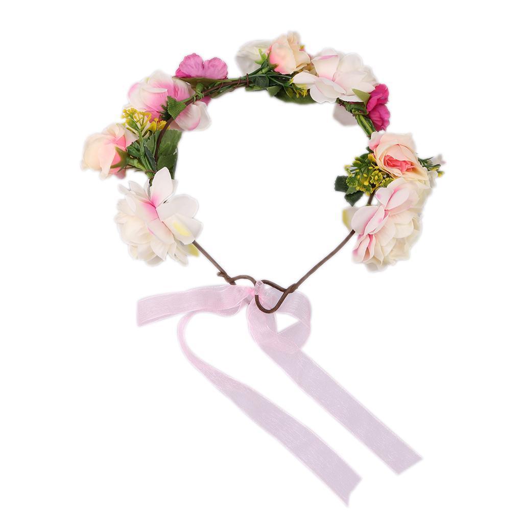 Boho flower headband floral crown garland hair band hair wreath boho flower headband floral crown garland hair band hair wreath accessories izmirmasajfo