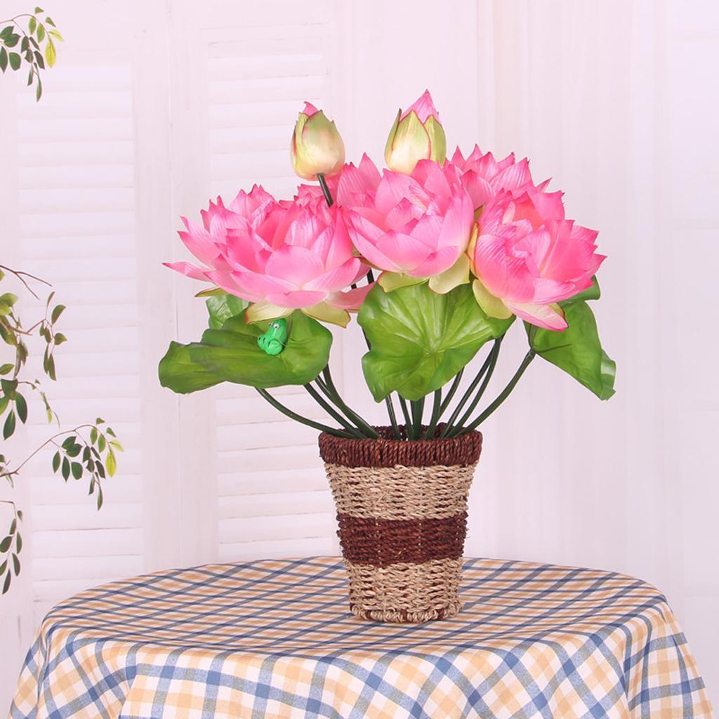 Diy Wedding Water Lily Silk Flowers Arrangement Artificial Lotus