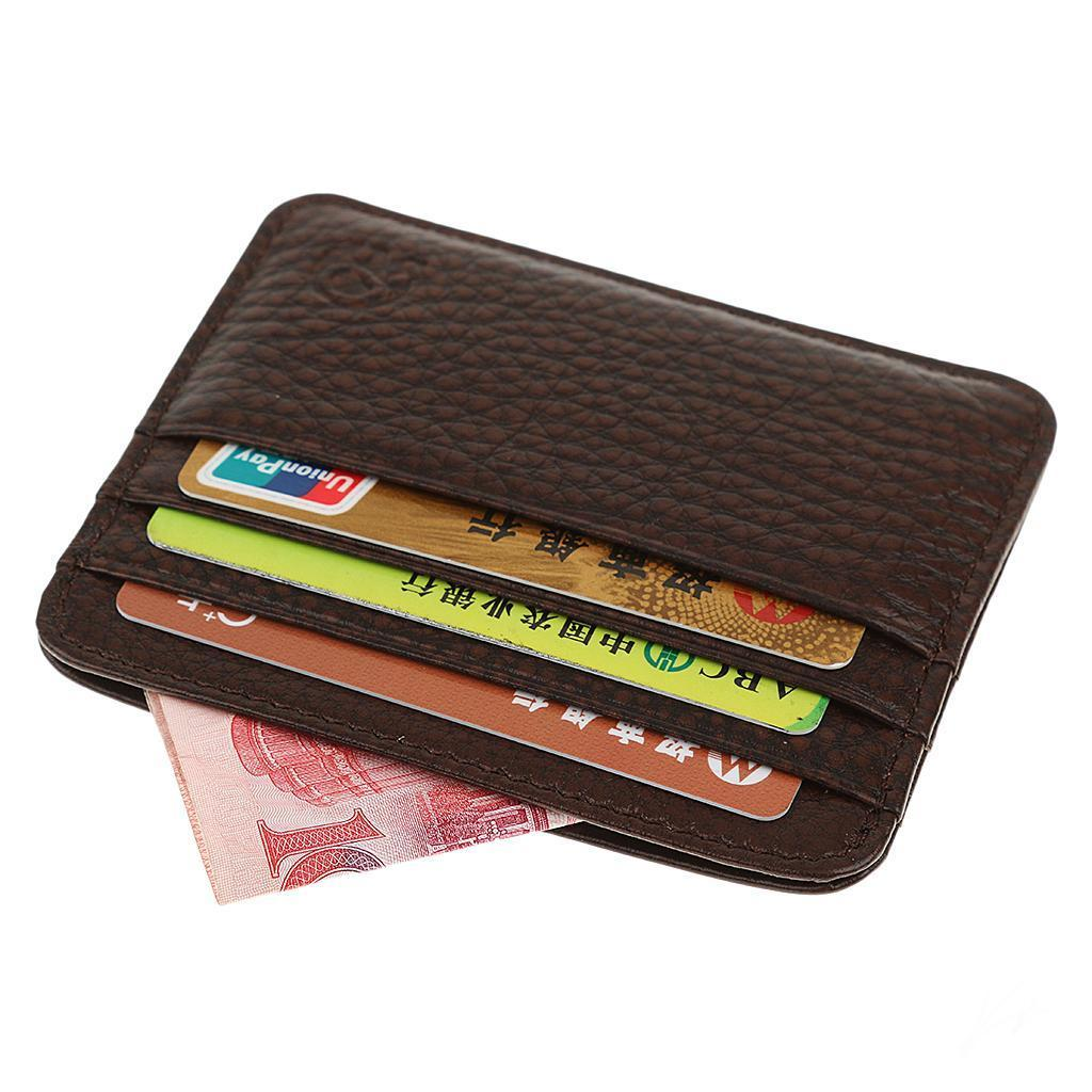 Men-PU-Leather-Slim-Credit-Card-Case-ID-Cash-Holder-Small-Thin-Wallet-Casual thumbnail 4