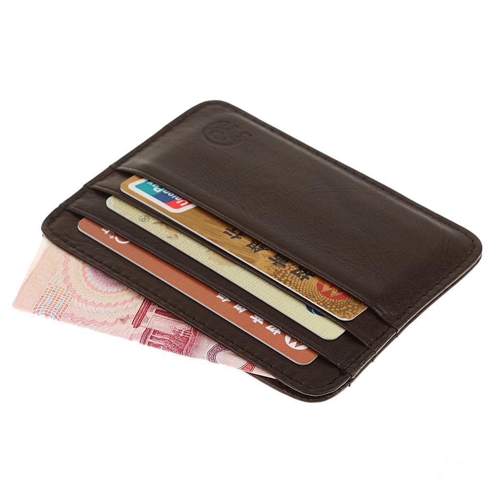 Men-PU-Leather-Slim-Credit-Card-Case-ID-Cash-Holder-Small-Thin-Wallet-Casual thumbnail 8