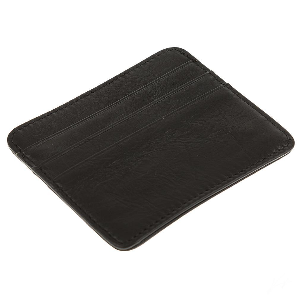 Men-PU-Leather-Slim-Credit-Card-Case-ID-Cash-Holder-Small-Thin-Wallet-Casual thumbnail 14