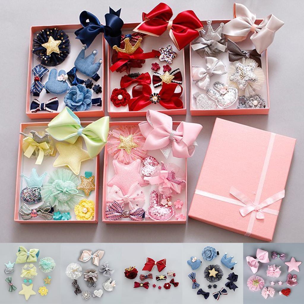 10Pcs/Set Kids Baby Girl Bow Boutique Hair Clips Flower Barrette ...