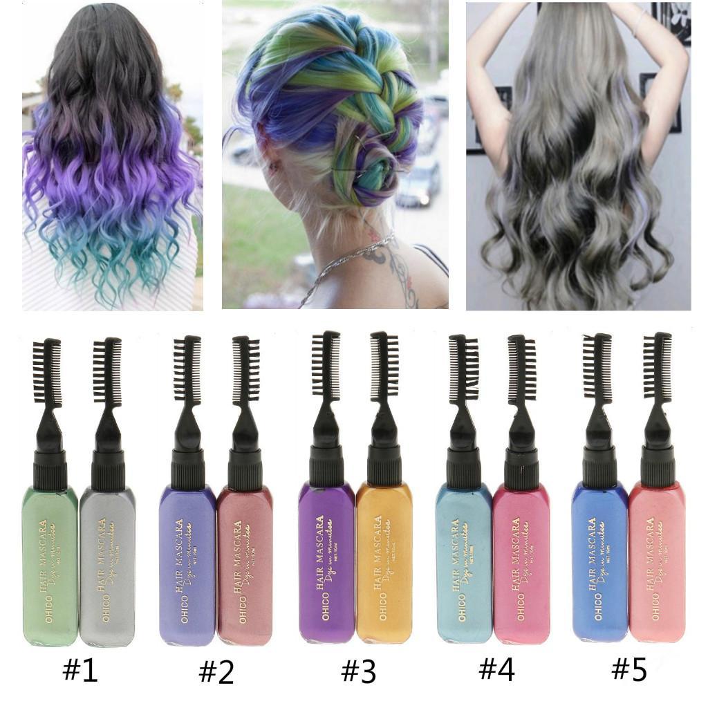 2pcs Professional Temporary Hair Color Hair Dye Highlights Streaks