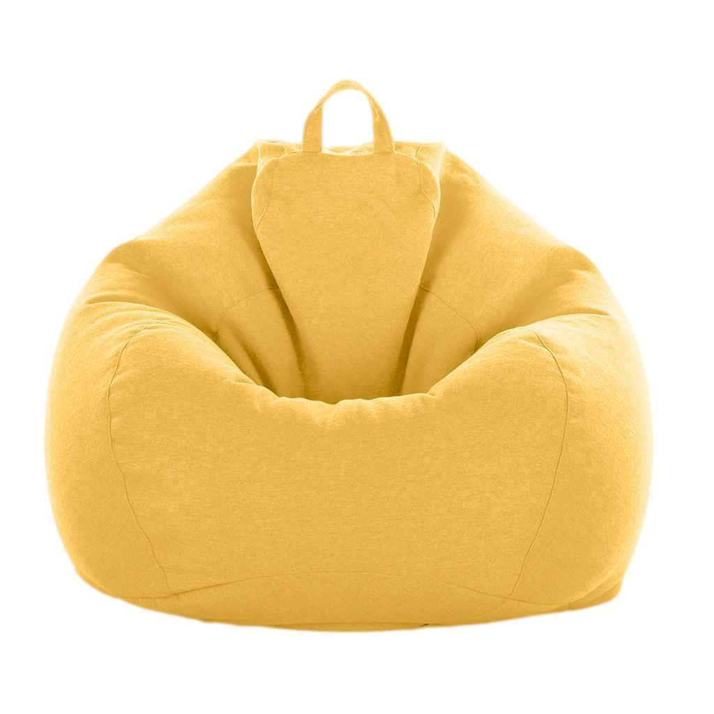 Copertura per Pouf in Tessuto Oxford Impermeabile Copri Lazy Bag per Adulti e Bambini Copertura per Poltrona a Sacco ,Nero,140x180cm Senza Imbottitura