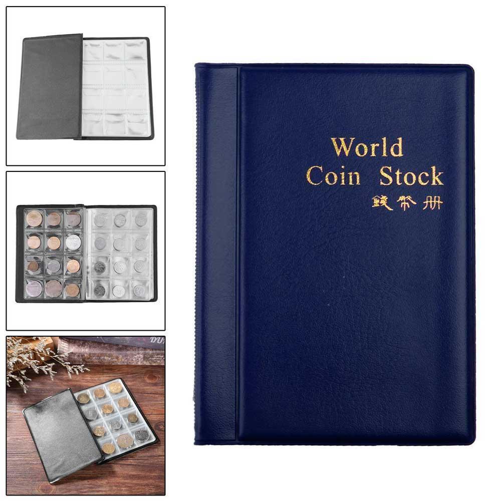 Raccoglitore-per-Monete-da-Collezione-Album-Portamonete-120-Tasche-10-Fogli miniatura 19