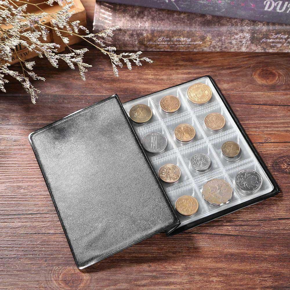 Raccoglitore-per-Monete-da-Collezione-Album-Portamonete-120-Tasche-10-Fogli miniatura 20
