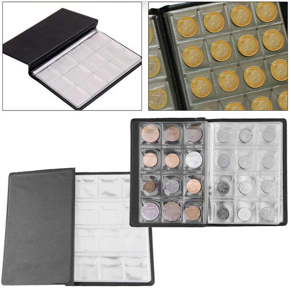 Raccoglitore-per-Monete-da-Collezione-Album-Portamonete-120-Tasche-10-Fogli miniatura 21