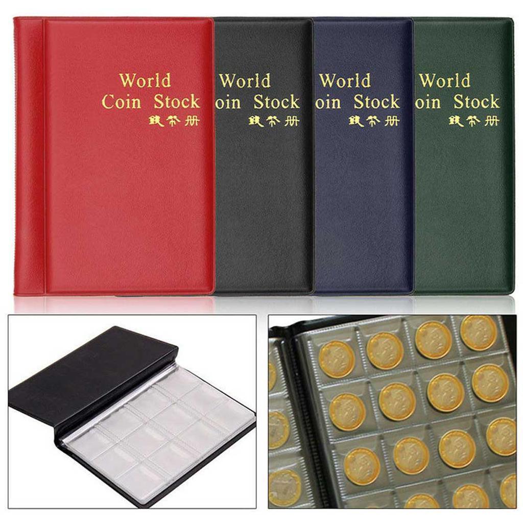 Raccoglitore per collezione di monete, 120 tasche, 10 Fogli (copertina inglese)