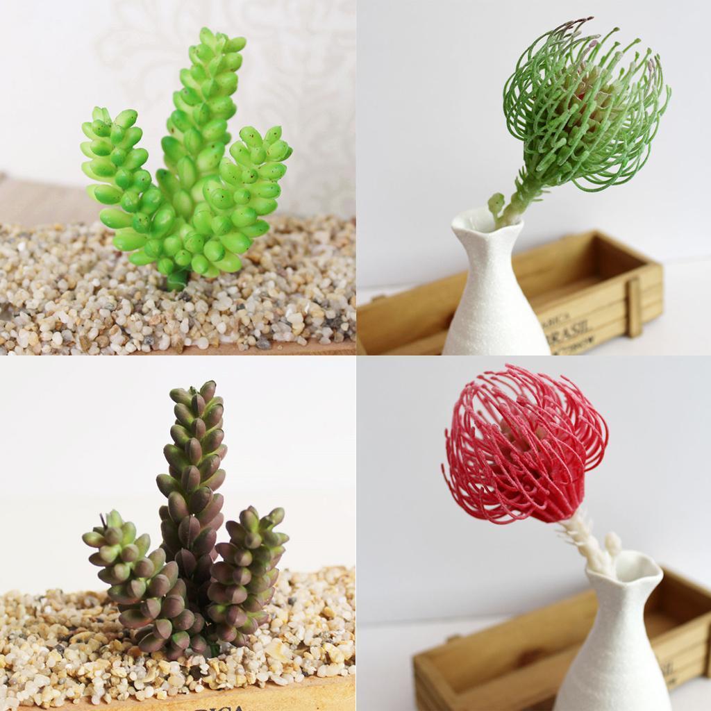 artificial plastic miniature succulents plant cactus flower home decor ebay. Black Bedroom Furniture Sets. Home Design Ideas