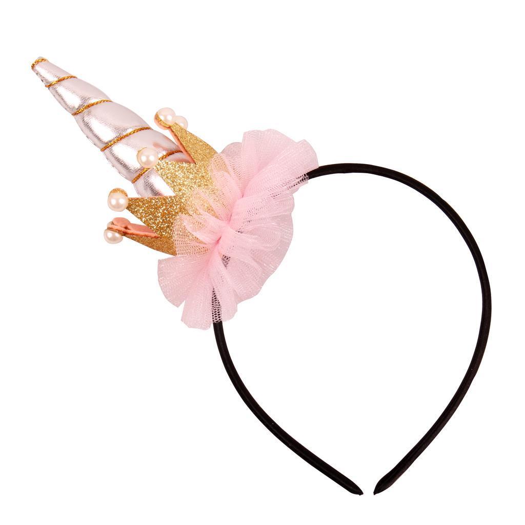 Girls-Pony-Unicorn-Horn-Ear-Flower-Veil-Headband-Fancy-Dress-Cosplay-Hairband thumbnail 39