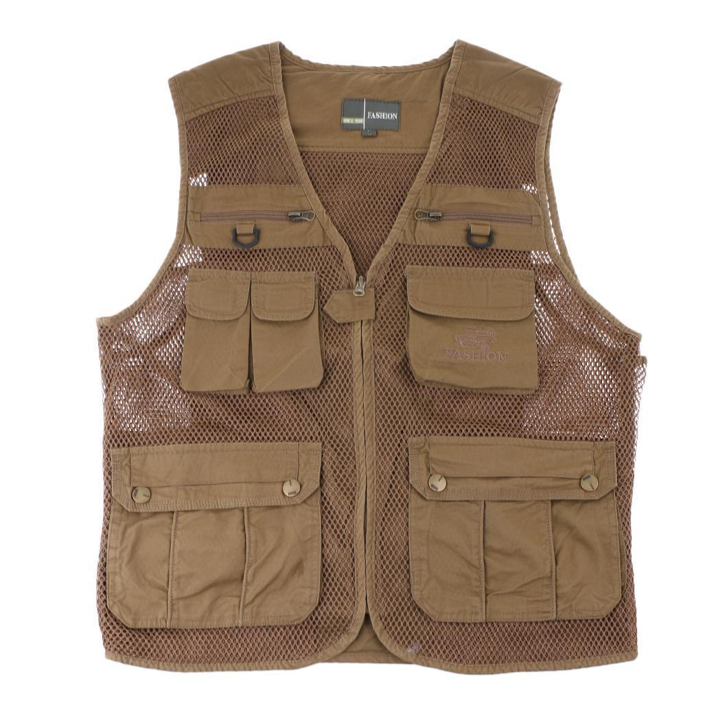 Kids outdoor zipper mesh vest travel fishing photography for Kids fishing vest