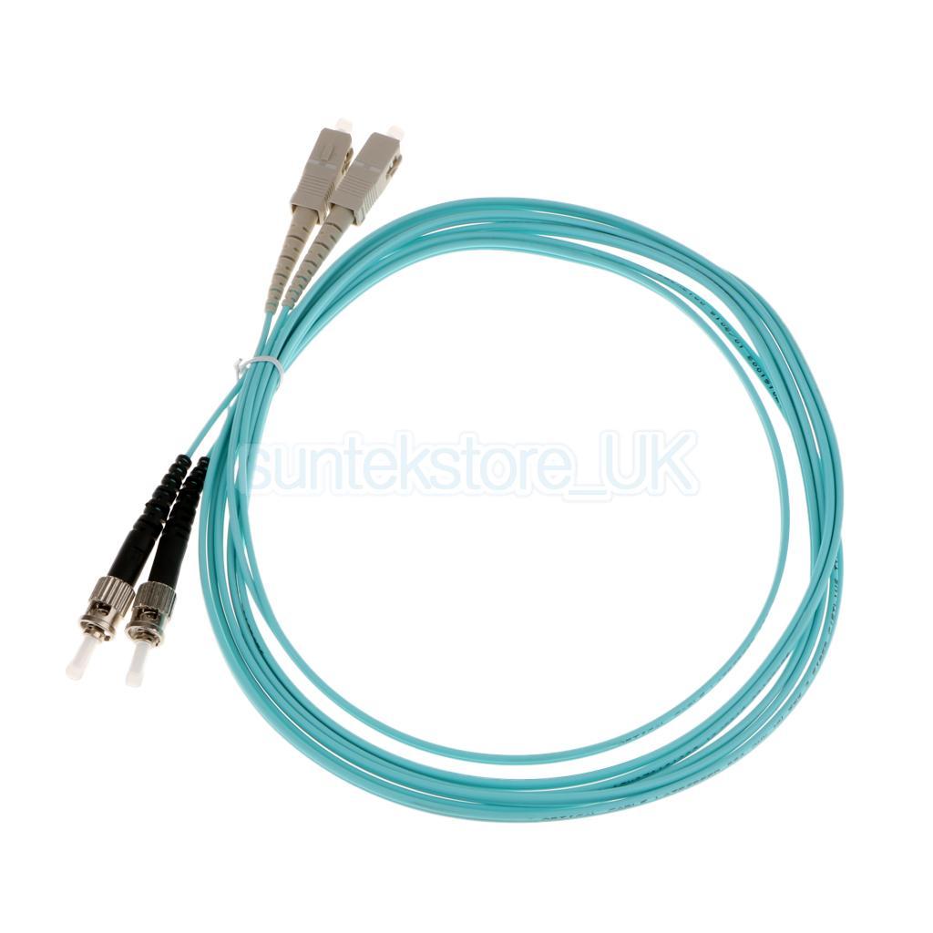 Jumper Cable Duplex Multimode Sc St To Fiber Optic Patch Cord Kabel Optik Patchcord 10 16ft