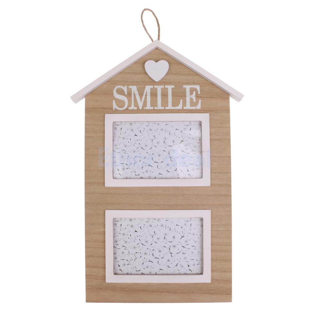 Land Haus Holz Familie Foto Rahmen Wand hängenden Bilderhalter ...