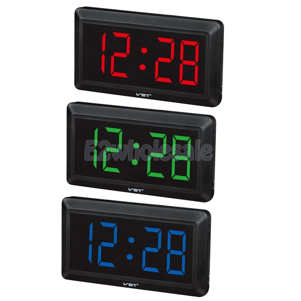 4 Digital Led Home Office Wall Clock Table Desk For Bedroom Eu Plug