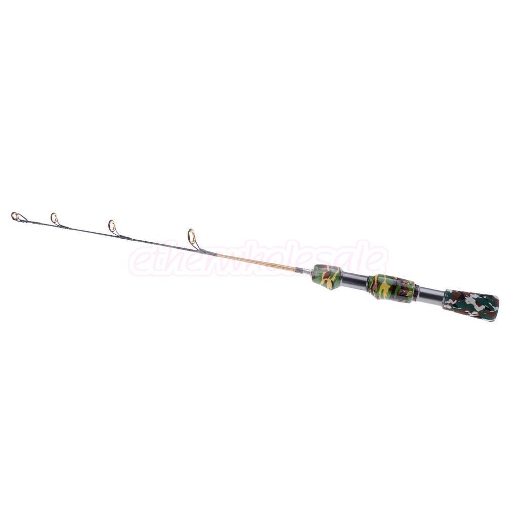 Perfeclan camouflage ice fishing rod winter fishing pole for Camo fishing pole