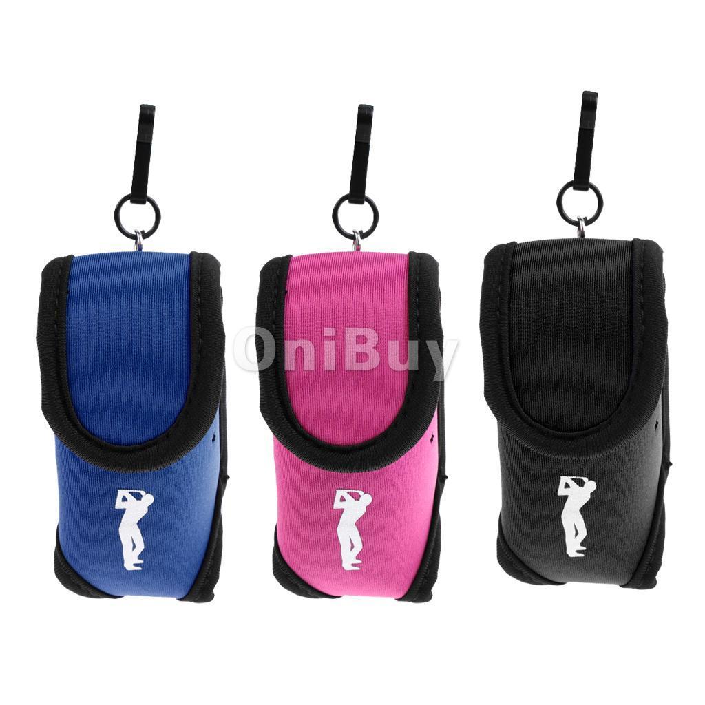 Mini Neoprene Golf Ball Bag Holder Golf Tee Accessory Pouch Small ...