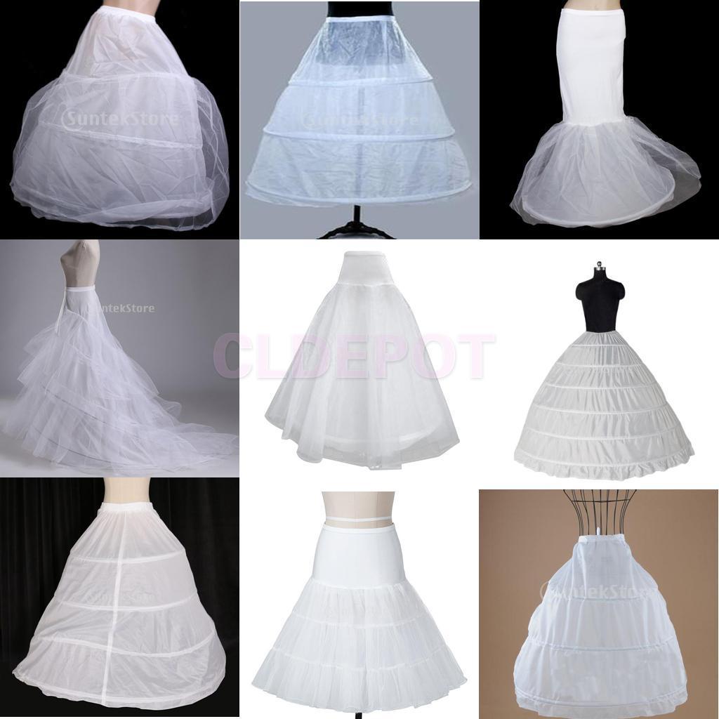 A-line 3 Hoop Bridal Wedding Dress Short Petticoat Crinoline Slip ...