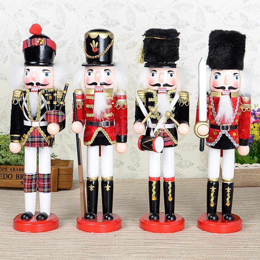 Best 30cm Wooden Nutcracker Puppet Toy Solider Handcraft Christmas  CN71