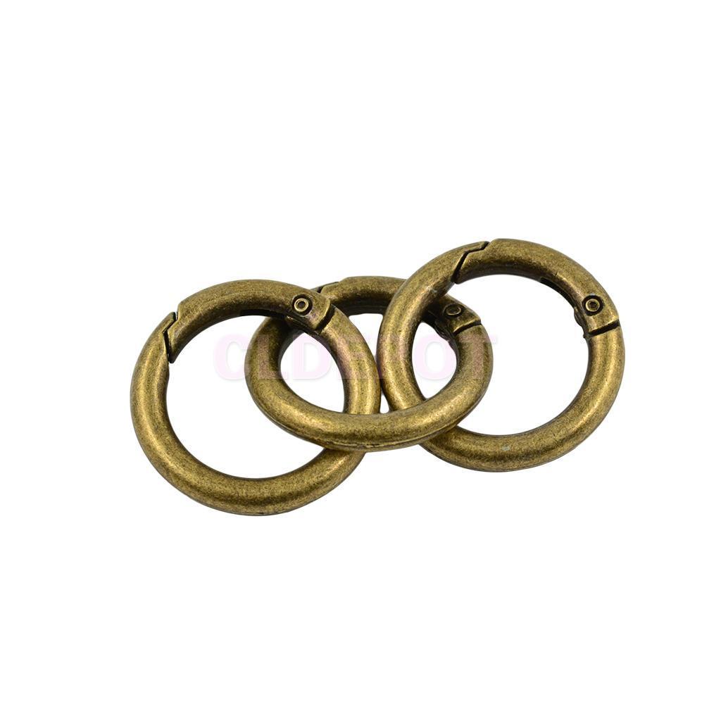 6pcs O Ring Round Carabiner Snap Clip Trigger Spring Keyring Buckle