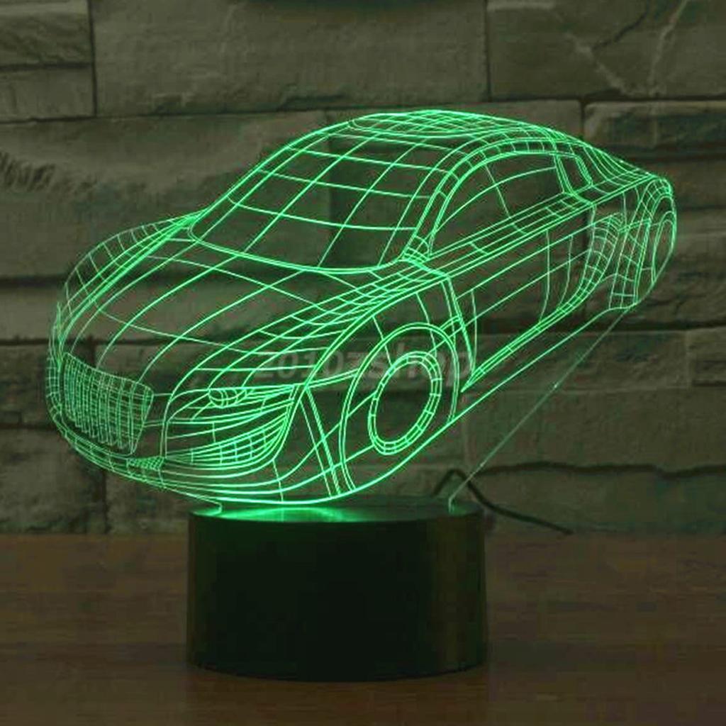 3D LED Nachtlichter Nachttischlampen Touch Lampe für