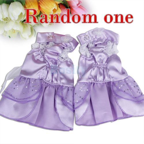 Pet Dog Wedding Dress Apparel Clothes Satin   Purple S